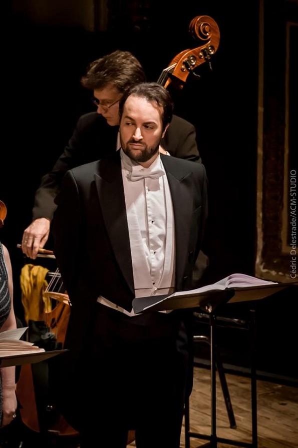 Yann Toussaint, baryton, dans le rôle de Lord Cecil, dans Maria Stuarda de Donizetti. Opéra du Grand Avignon, janvier 2016. Copyrigth Cédric Delestrade.